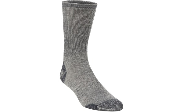 Hiwassee Trading Company Men's Large Charcoal Medium Weight Hiking Crew Sock